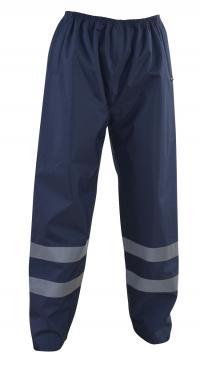 Spodnie bez podszewki z elementami odblaskowymi, granatowe