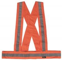 VWOT158 - Szelki ostrzegawcze elastyczne o intensywnej widzialności, uniwersalne w kolorze pomarańczowym lub żółtym