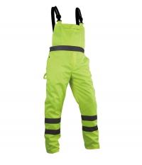 Spodnie robocze na szelkach ostrzegawcze o intensywnej widzialności