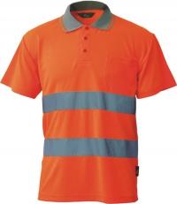 Koszulka polo Coolpass ostrzegawcza o intensywnej widzialności