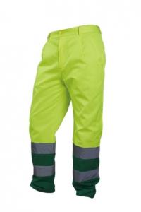 VWTC07-2B Spodnie robocze ostrzegawcze o intensywnej widzialności, w kontrastowych kolorach
