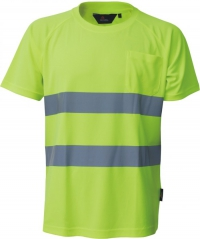 T-shirt CoolPass ostrzegawczy o intensywnej widzialności