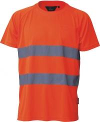 T-shirt przewiewny, ostrzegawczy o intensywnej widzialności