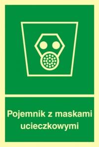 Pojemnik z maskami ucieczkowymi